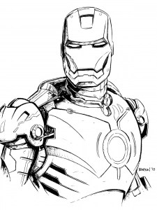 ironman coloring page # 11