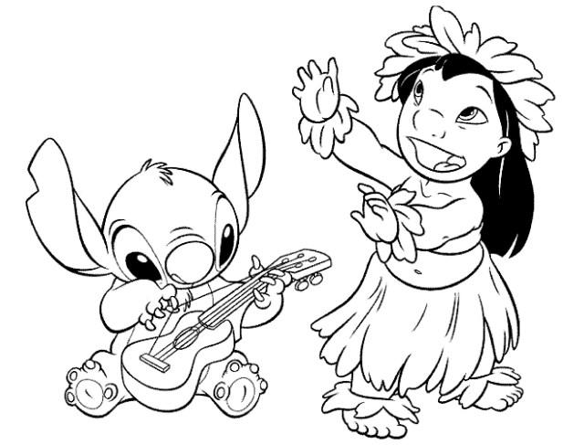 Lilo and stich to color for children - Lilo And Stich Kids
