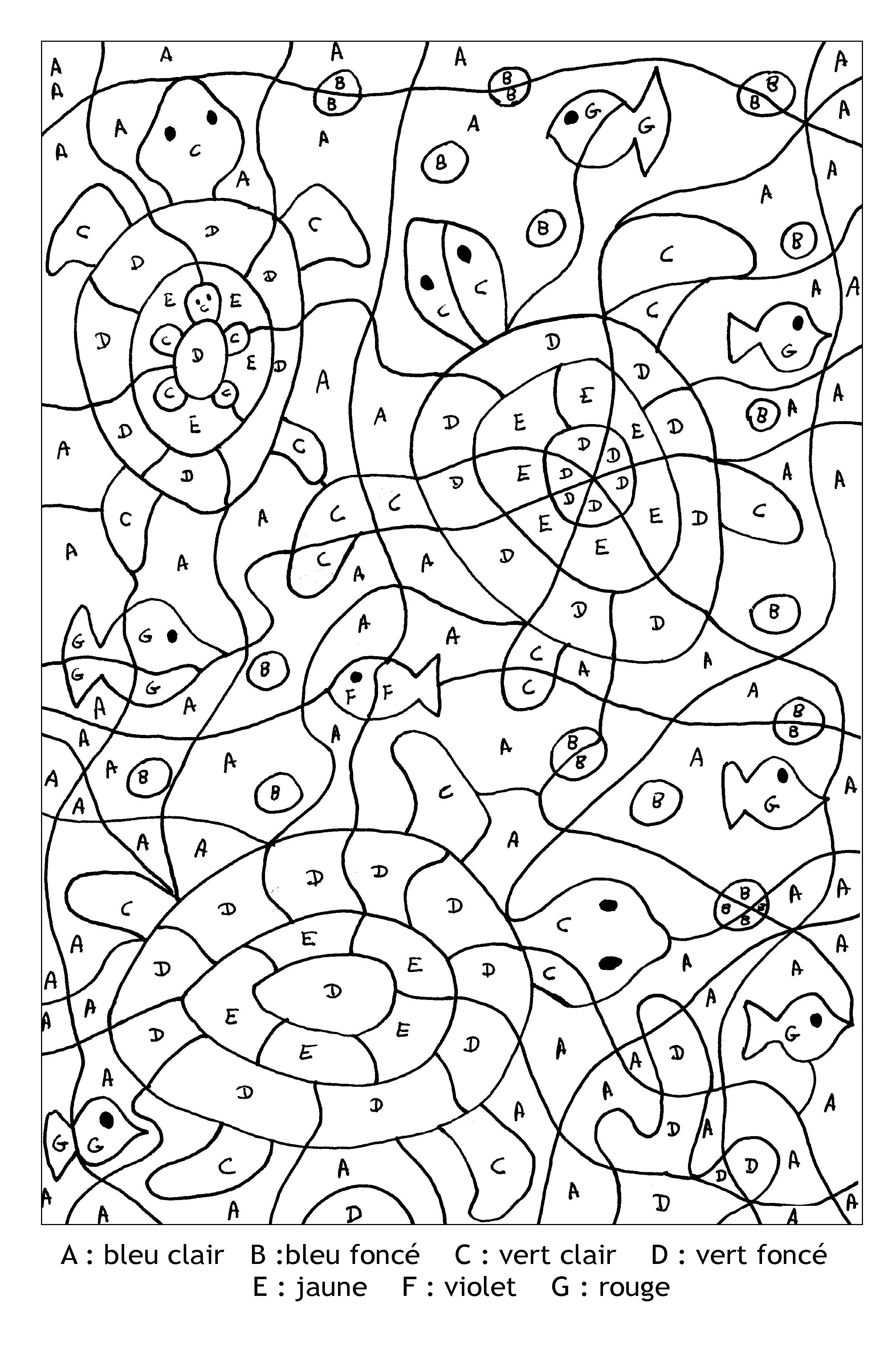 Magic To Color For Children Turtles