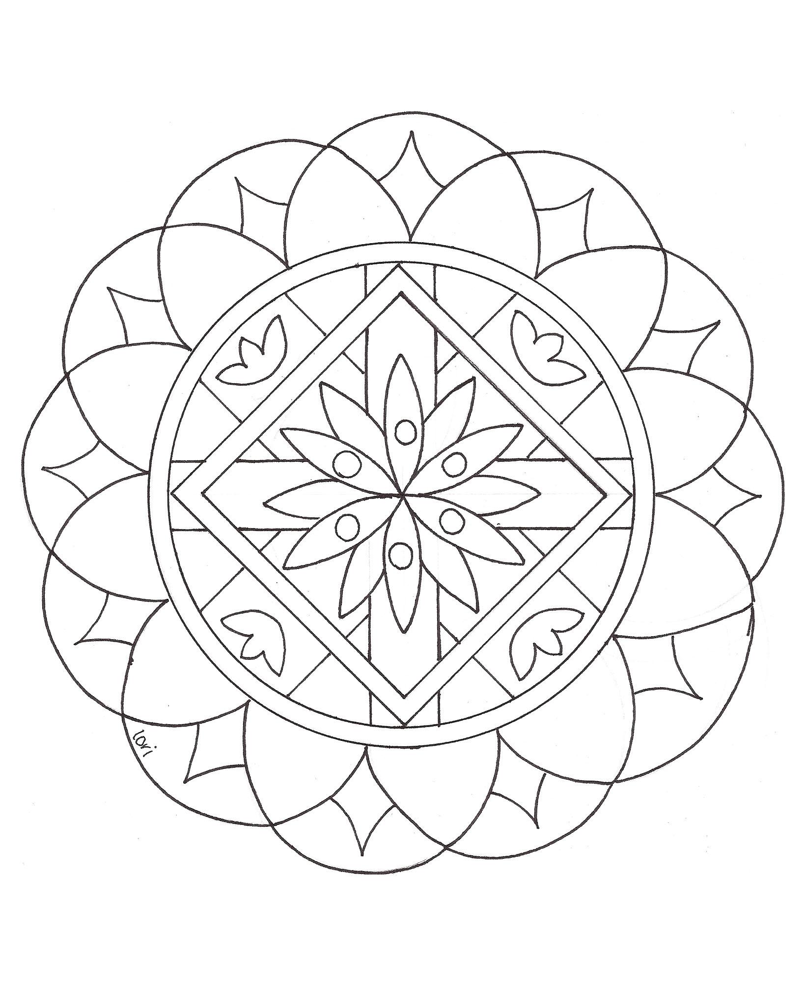 Mandalas To Color For Children