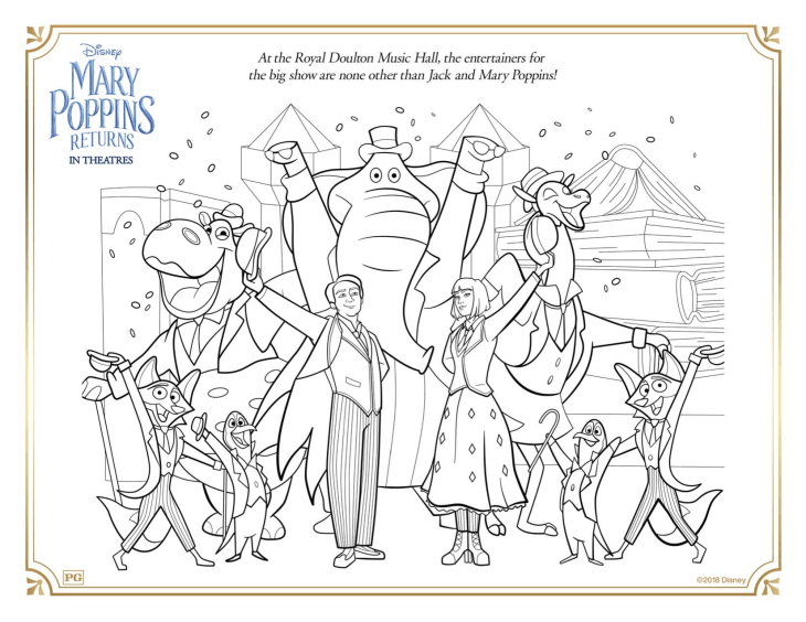 mary poppins returns  mary poppins returns kids coloring