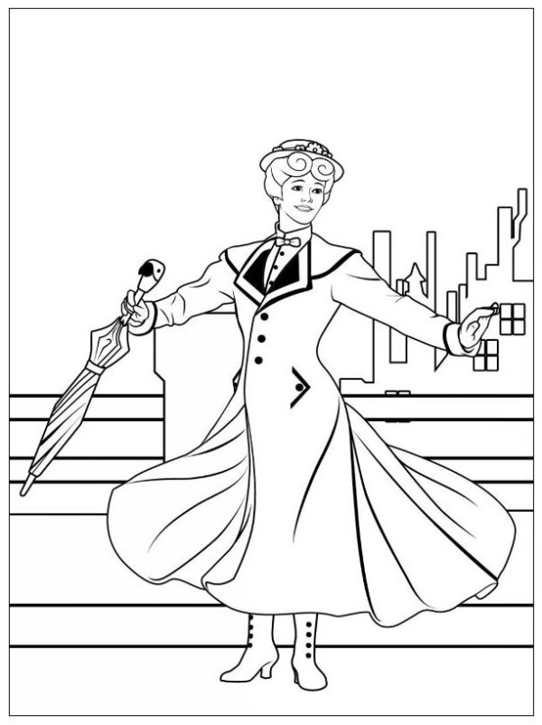 mary poppins coloring pages # 5