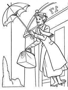 mary poppins coloring pages # 27