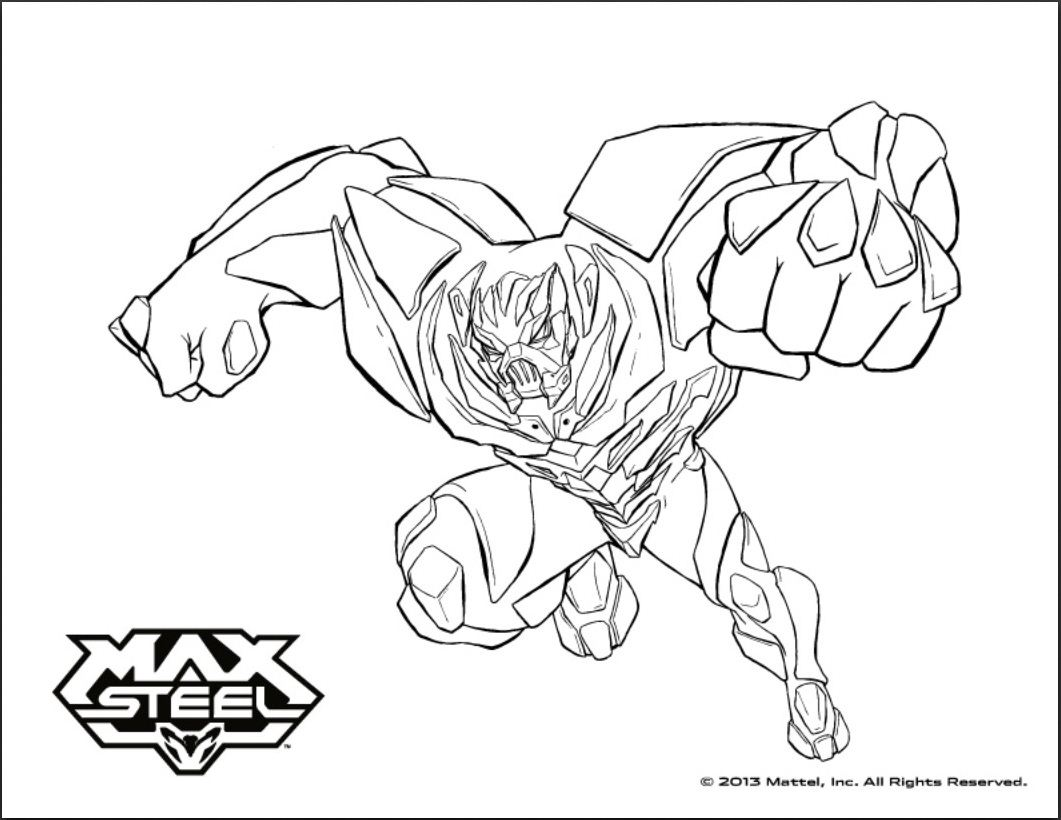 Max Steel To Print Max Steel Kids Coloring Pages