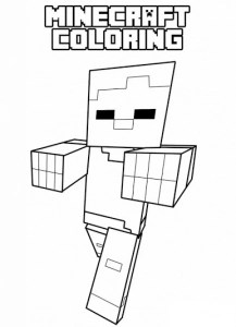 minecraft printable colouring sheets # 35