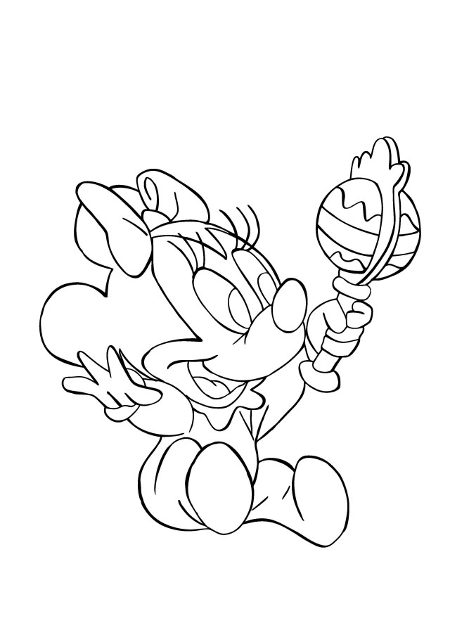 Minnie for children - Minnie Kids Coloring Pages