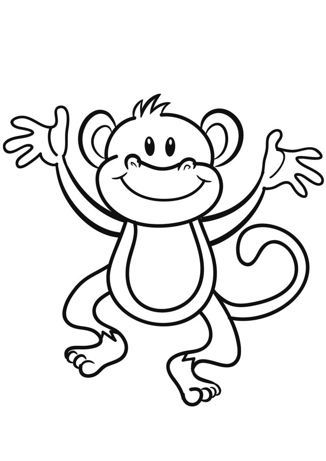 Monkeys to download - Monkeys Kids Coloring Pages