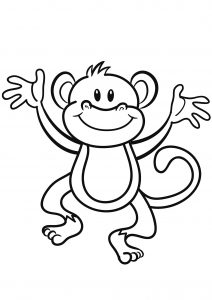 coloring pages of monkeys # 77