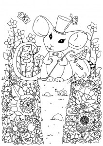 Mouse Free Printable Coloring Pages For Kids