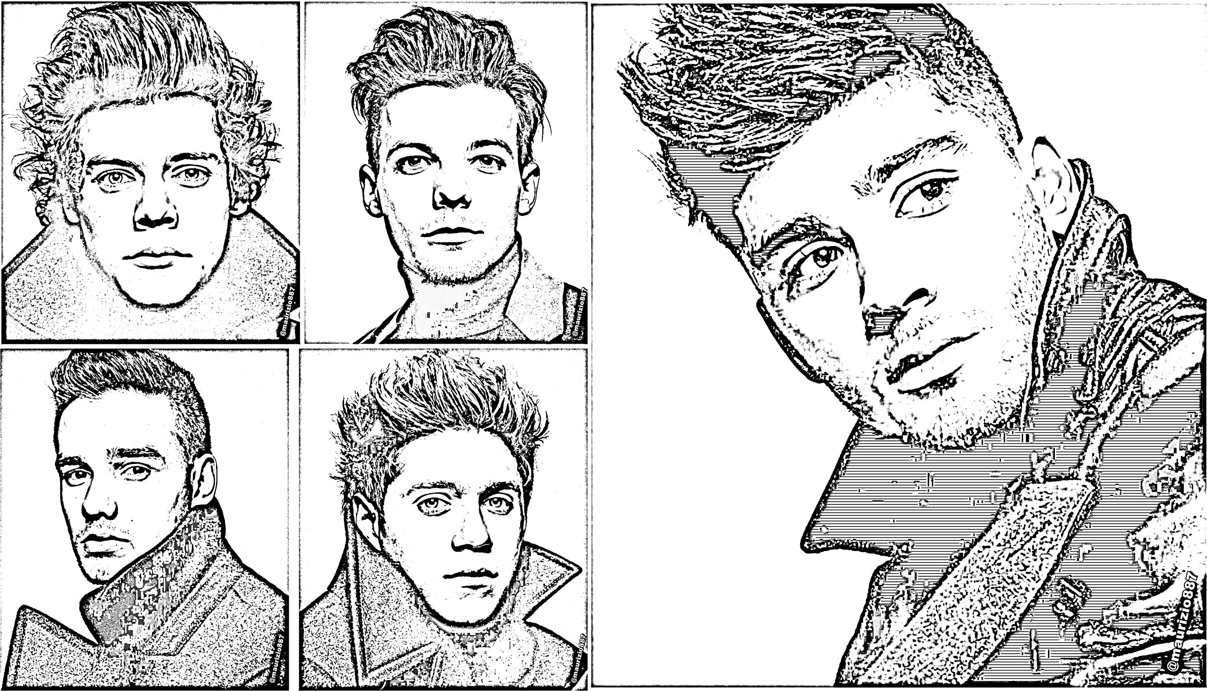 One Direction Free To Color For Kids