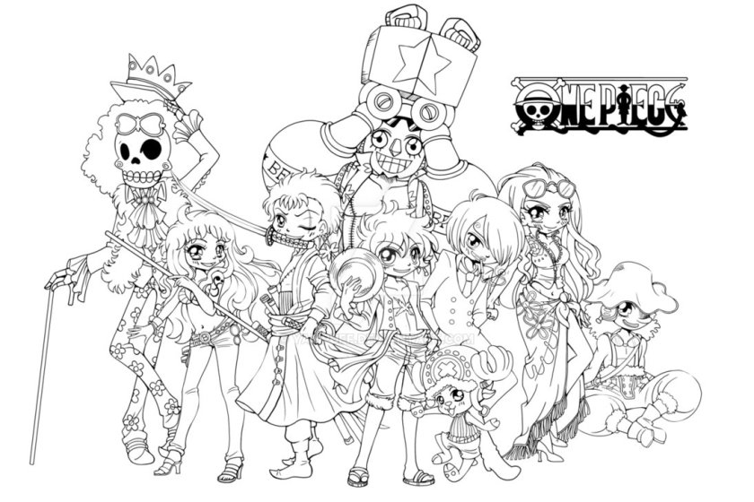 one piece free to color for kids  one piece kids coloring