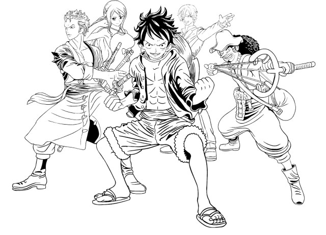One piece free to color for children - One Piece Kids Coloring Pages
