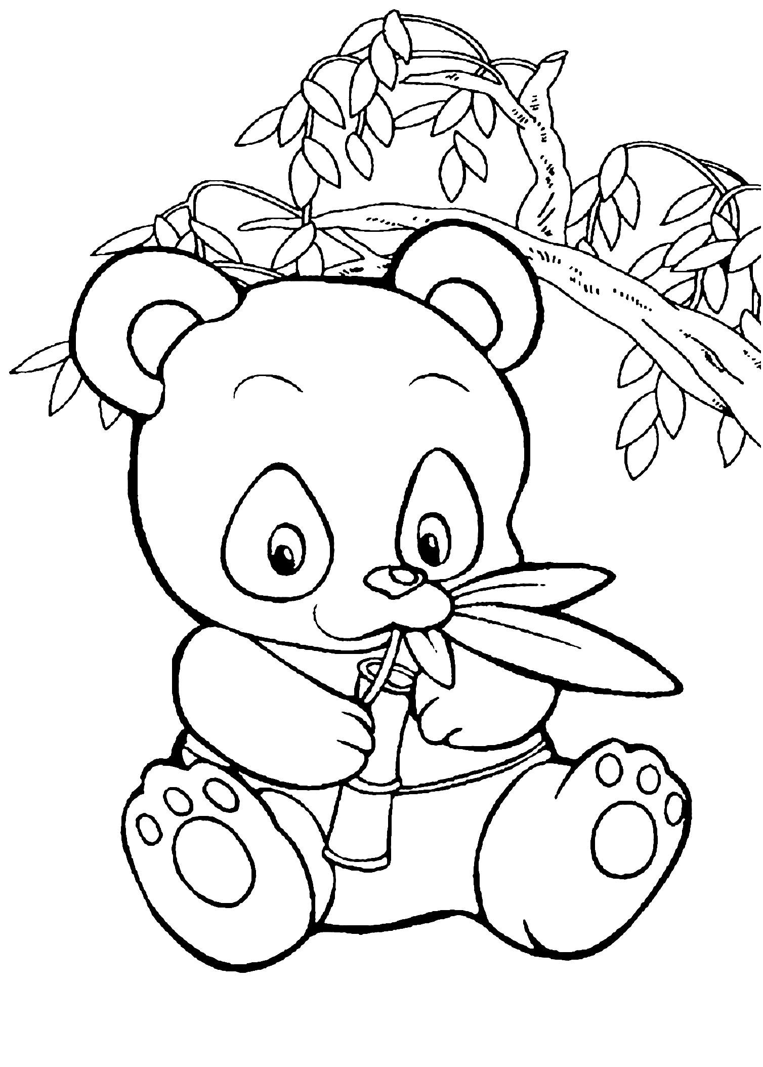 Pandas To Color For Kids Pandas Kids Coloring Pages