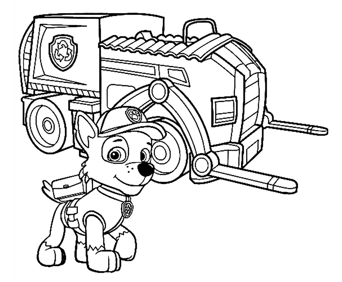 Paw Patrol To Print For Free Paw Patrol Kids Coloring Pages