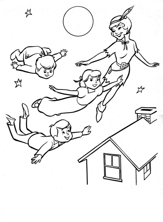 Peter pan to print for free - Peter Pan Kids Coloring Pages