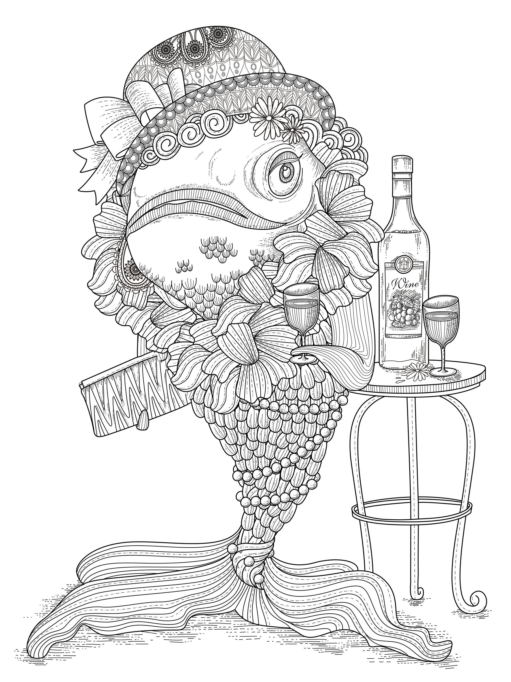 Pisces For Children Pisces Kids Coloring Pages