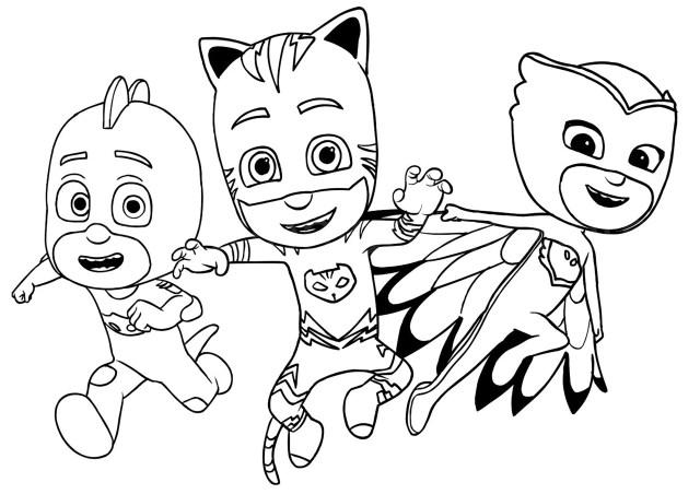 Pj masks to print for free - PJ Masks Kids Coloring Pages