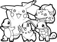 Pokemon for children - Pokemon Kids Coloring Pages