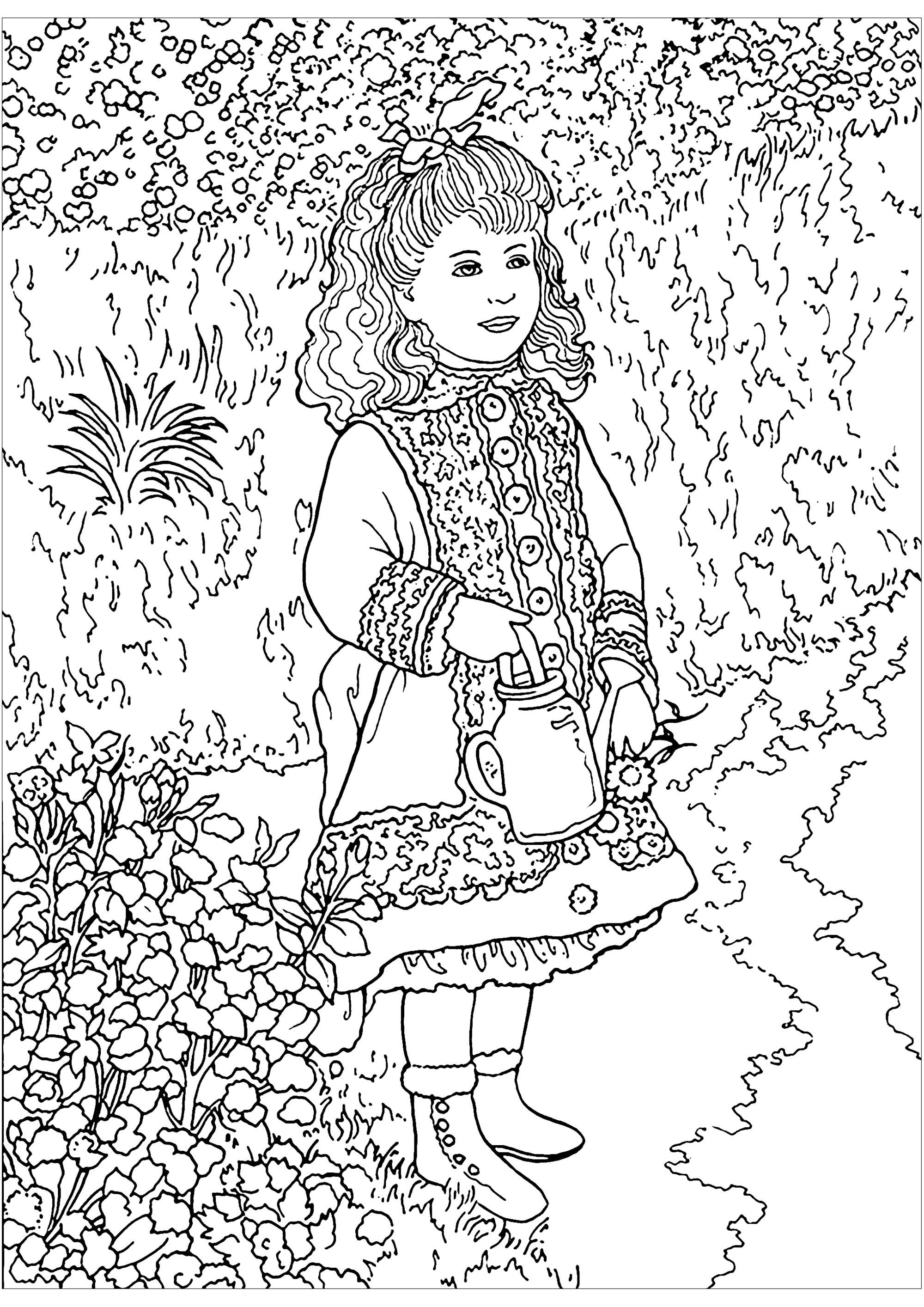 Auguste Renoir To Color For Children