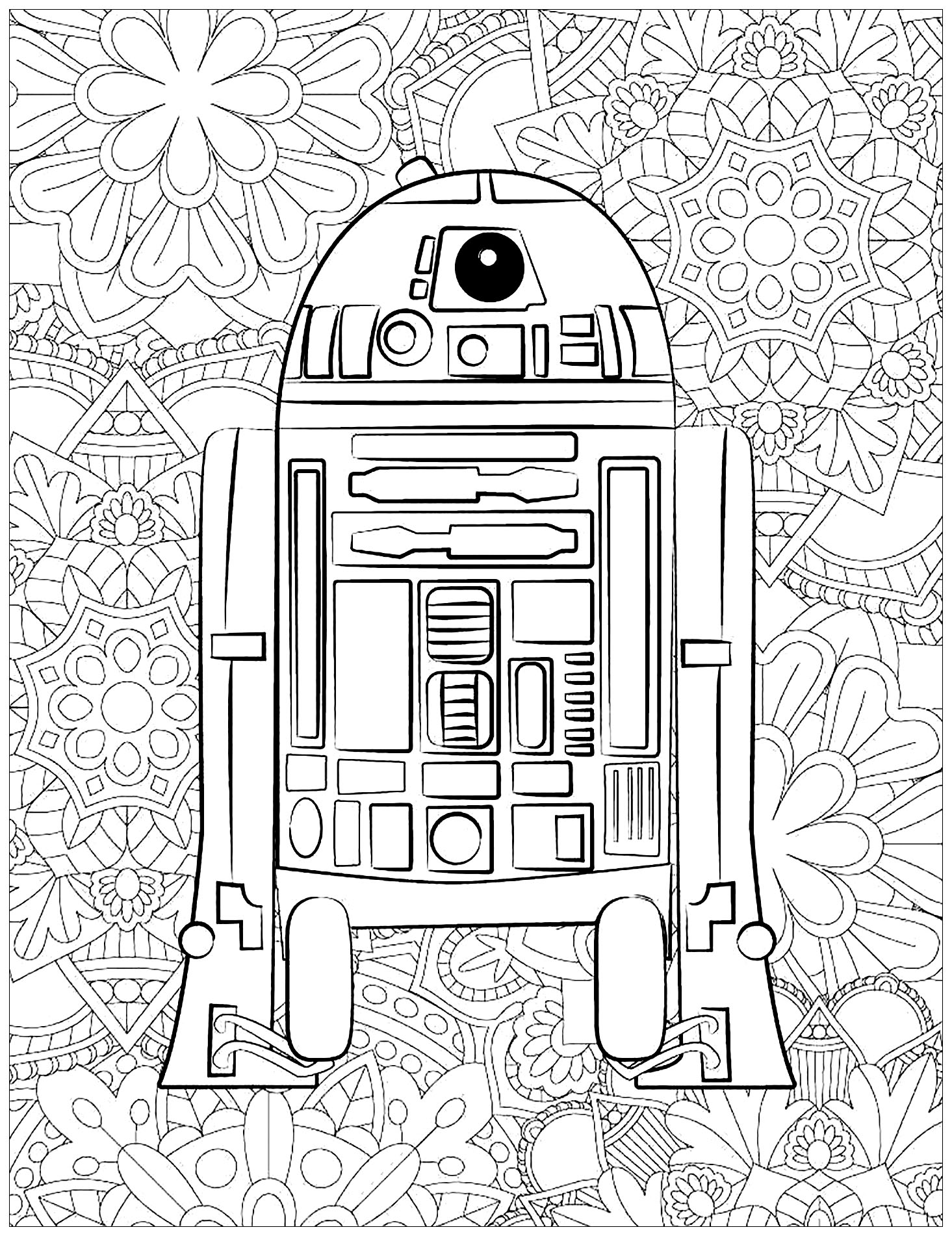 Star wars - Coloring Pages for Adults | 1902x1465