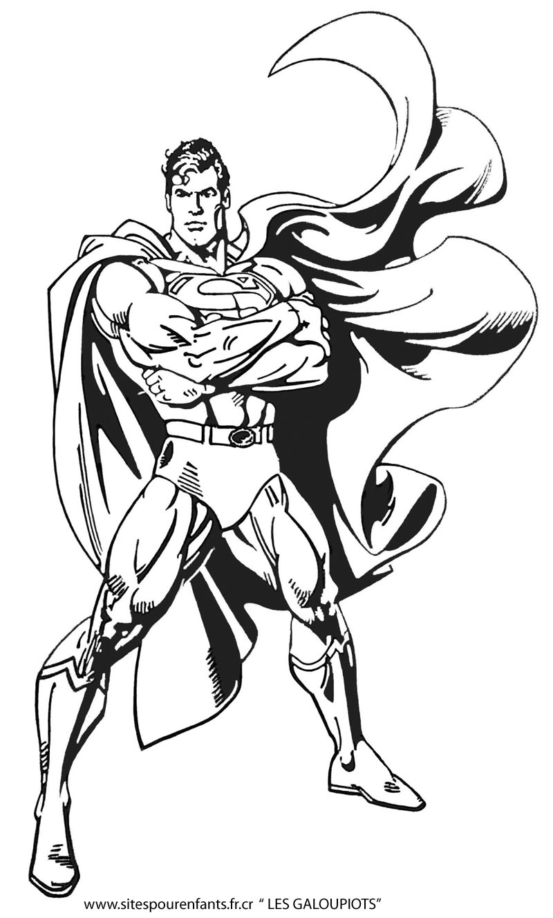 Superman for children - Superman Kids Coloring Pages