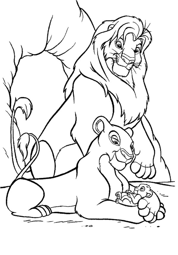 lion king coloring page # 6