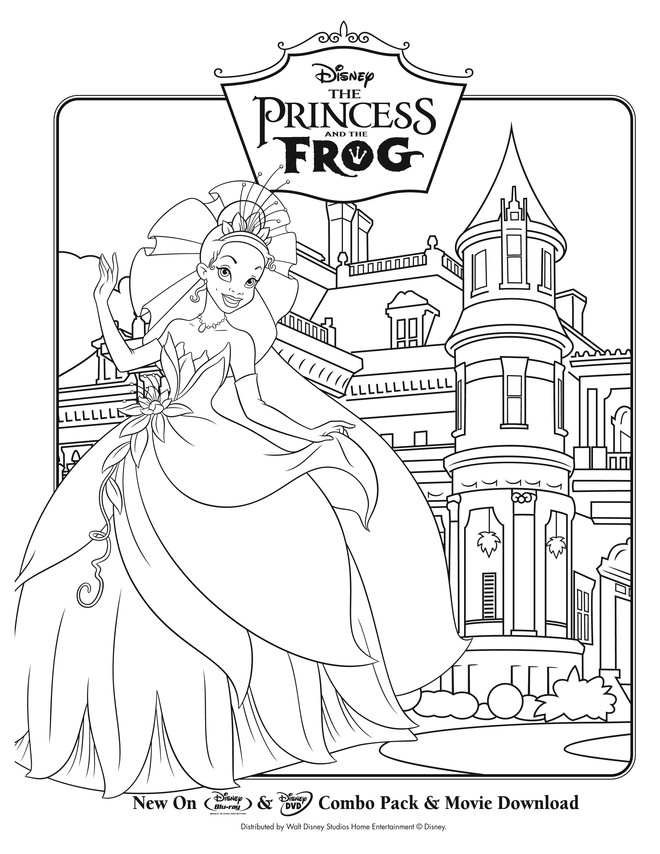 The Princess And The Frog To Print For Free The Princess And The Frog Kids Coloring Pages