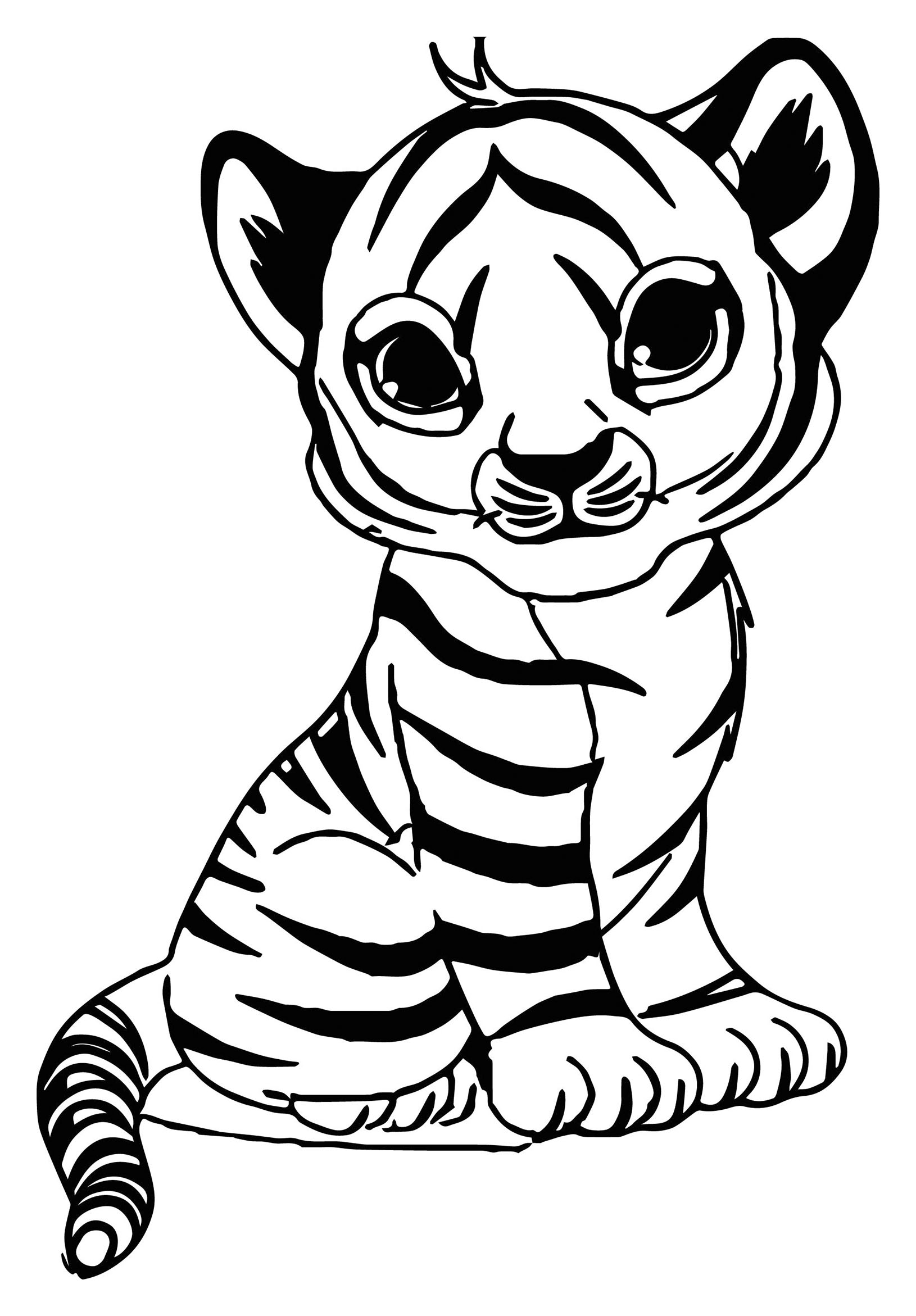 Tigers To Print For Free Tigers Kids Coloring Pages