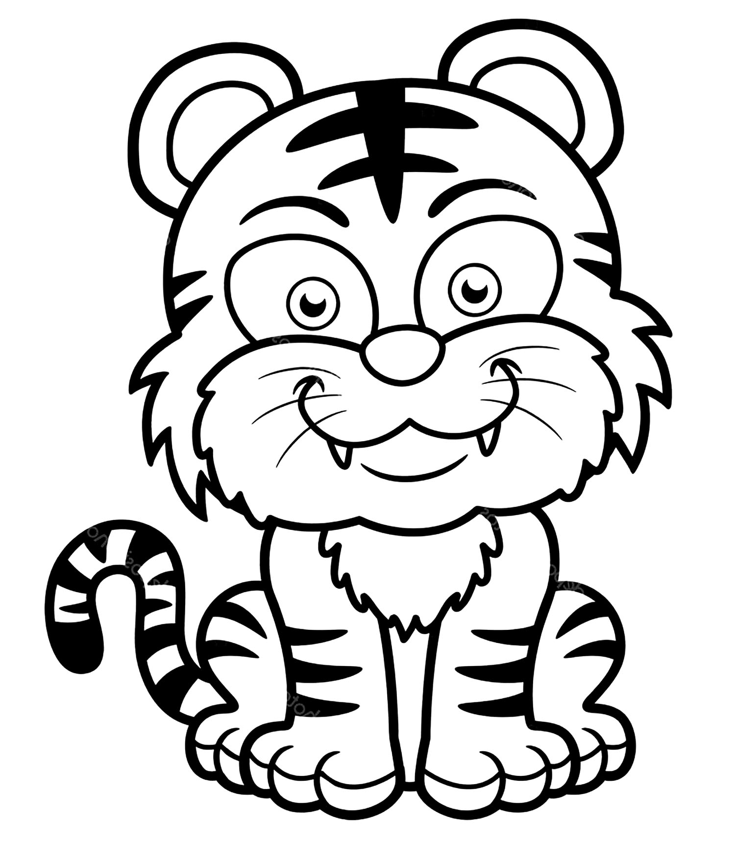 Tigers Free To Color For Children