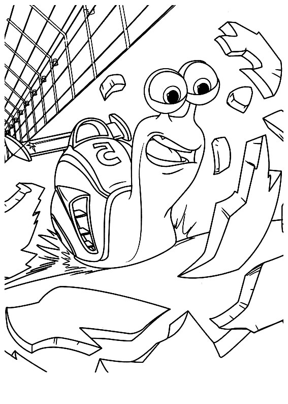 turbo to color for kids  turbo kids coloring pages