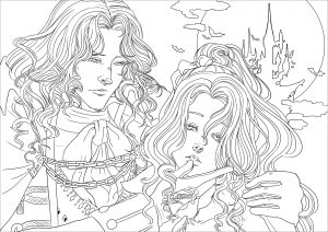 Vampires Free Printable Coloring Pages For Kids