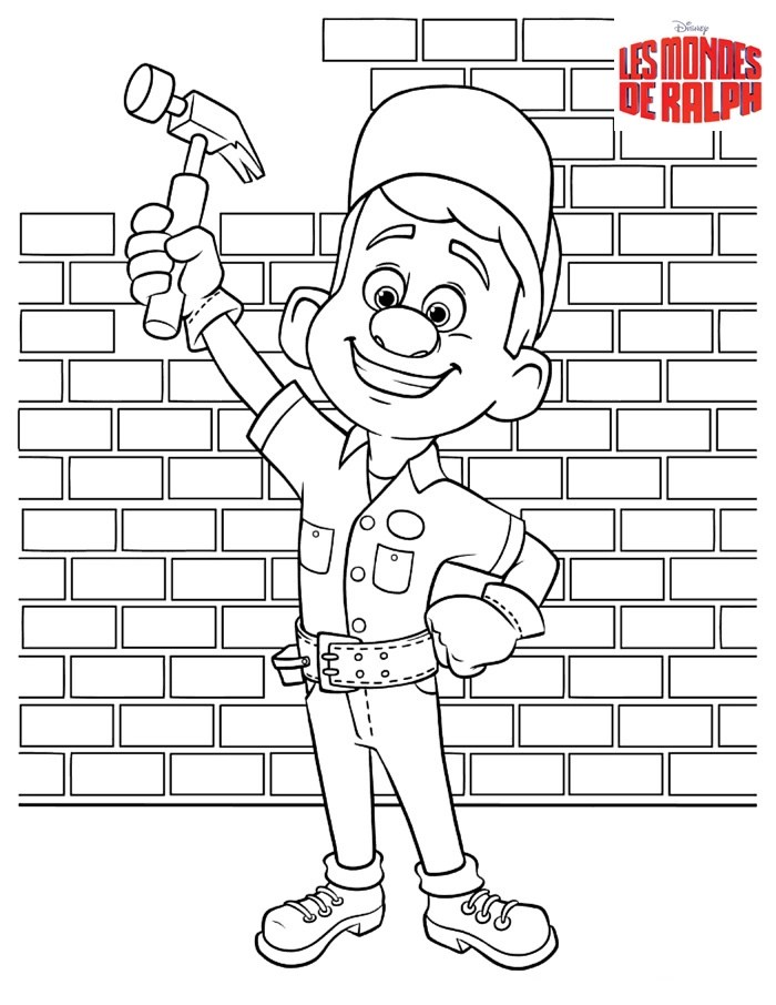 wreck it ralph free to color for children  wreckit ralph
