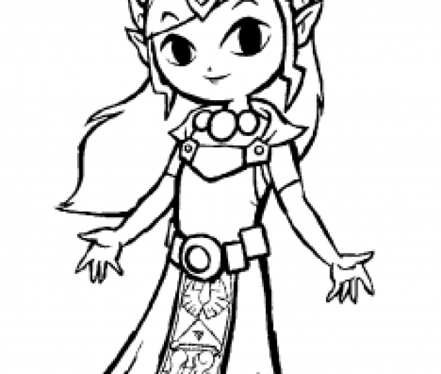 Zelda Free Printable Coloring Pages For Kids
