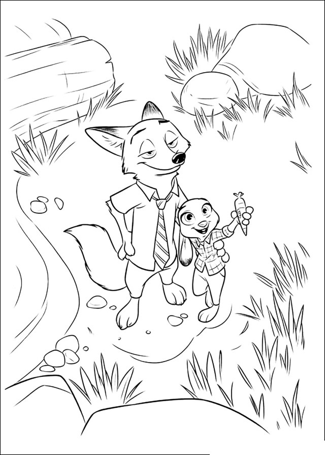 Zootopia to color for kids - Zootopia Kids Coloring Pages
