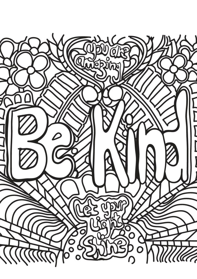 Free book quote 25 - Positive & inspiring quotes Adult Coloring Pages