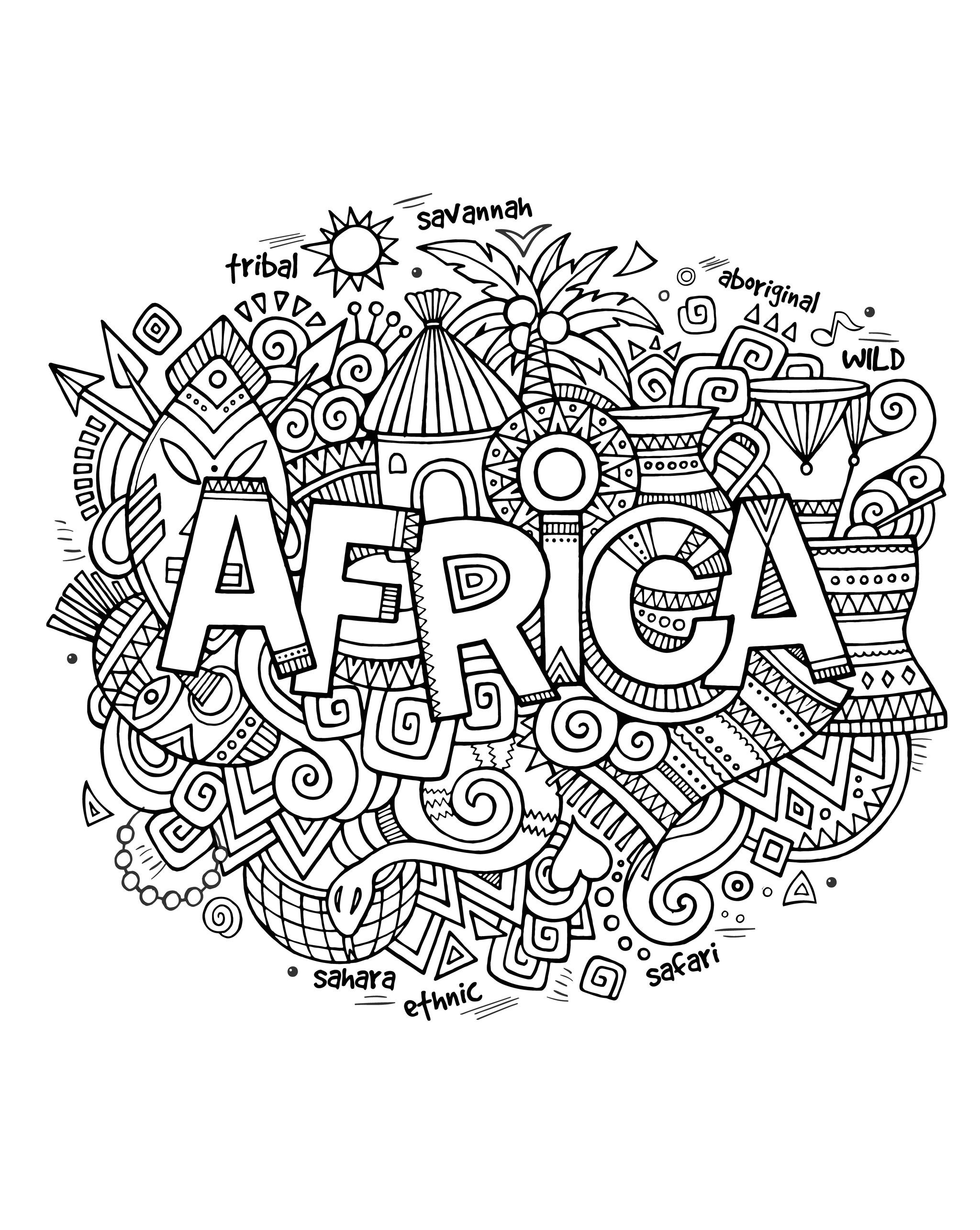 Africa Abstract Symbols