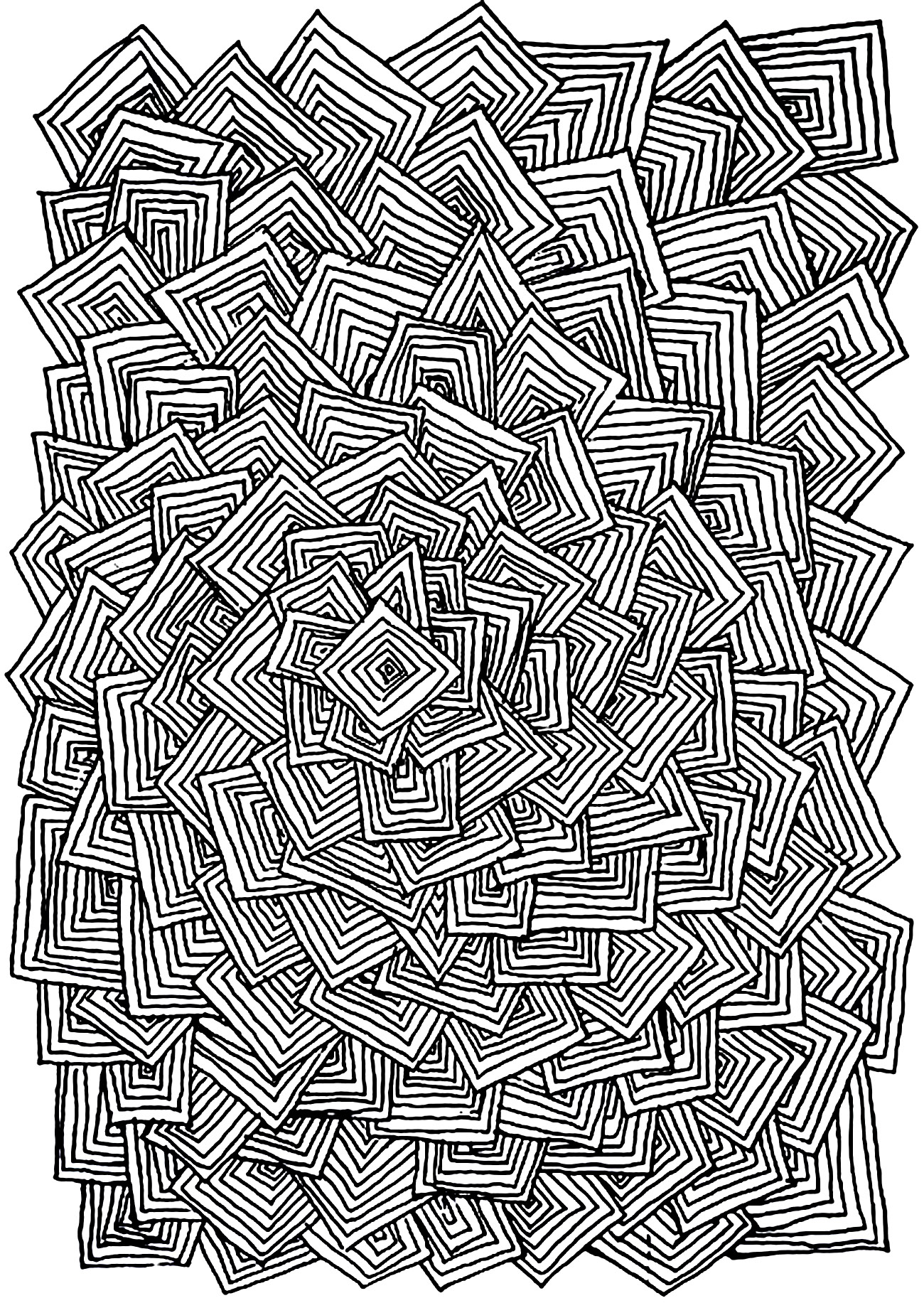Relax Squares Zen And Anti Stress Coloring Pages For Adults