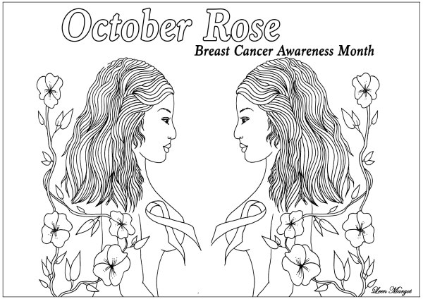 breast cancer coloring pages # 78