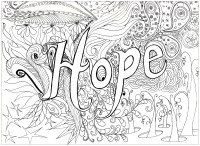 Hope - Anti stress Adult Coloring Pages