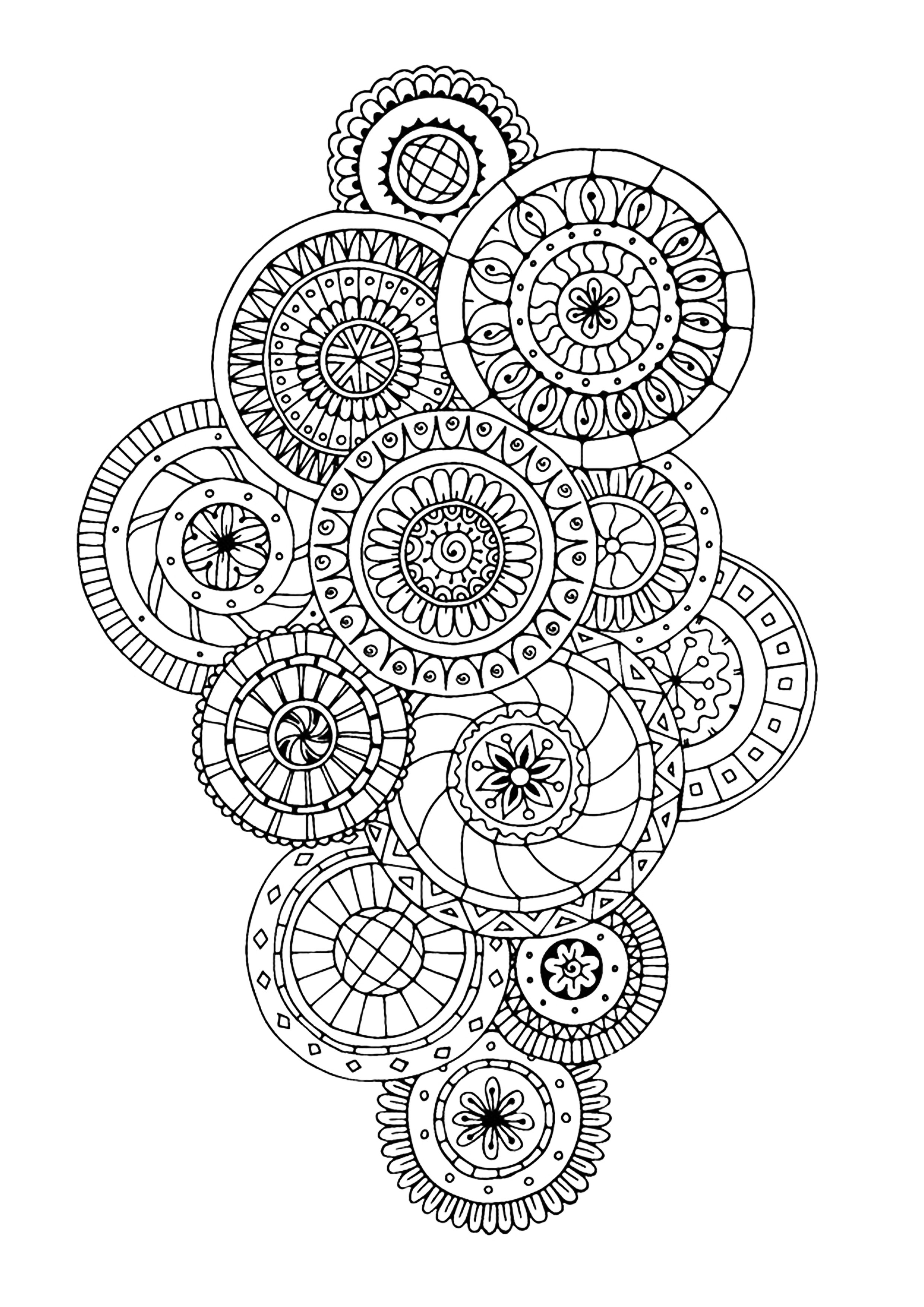 Zen Antistress Abstract Pattern Inspired By Flowers 5 By