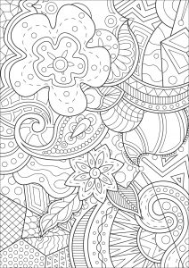 Zen And Anti Stress Coloring Pages For Adults
