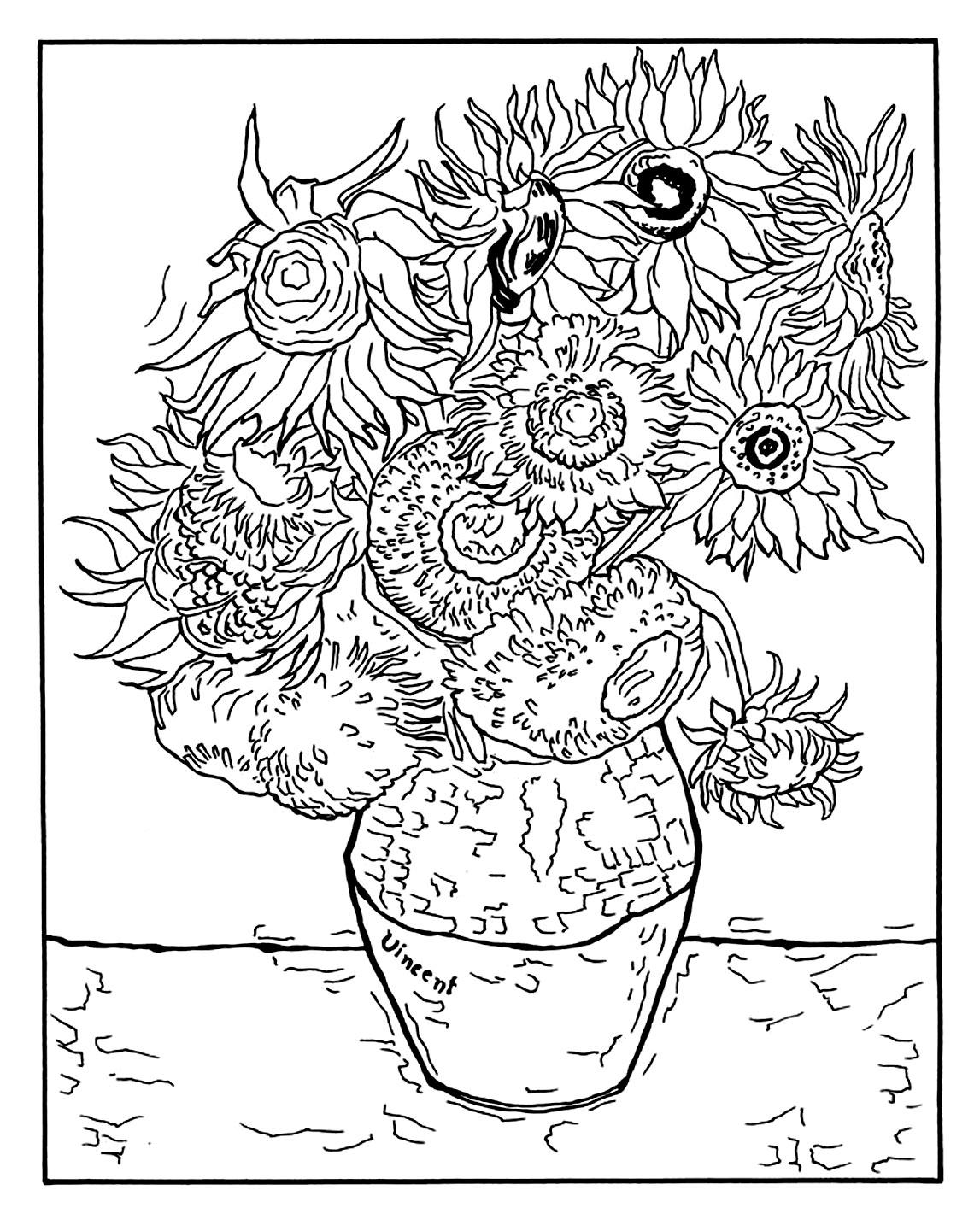 Vincent Van Gogh 12 Tournesols Dans Un Vase Masterpieces