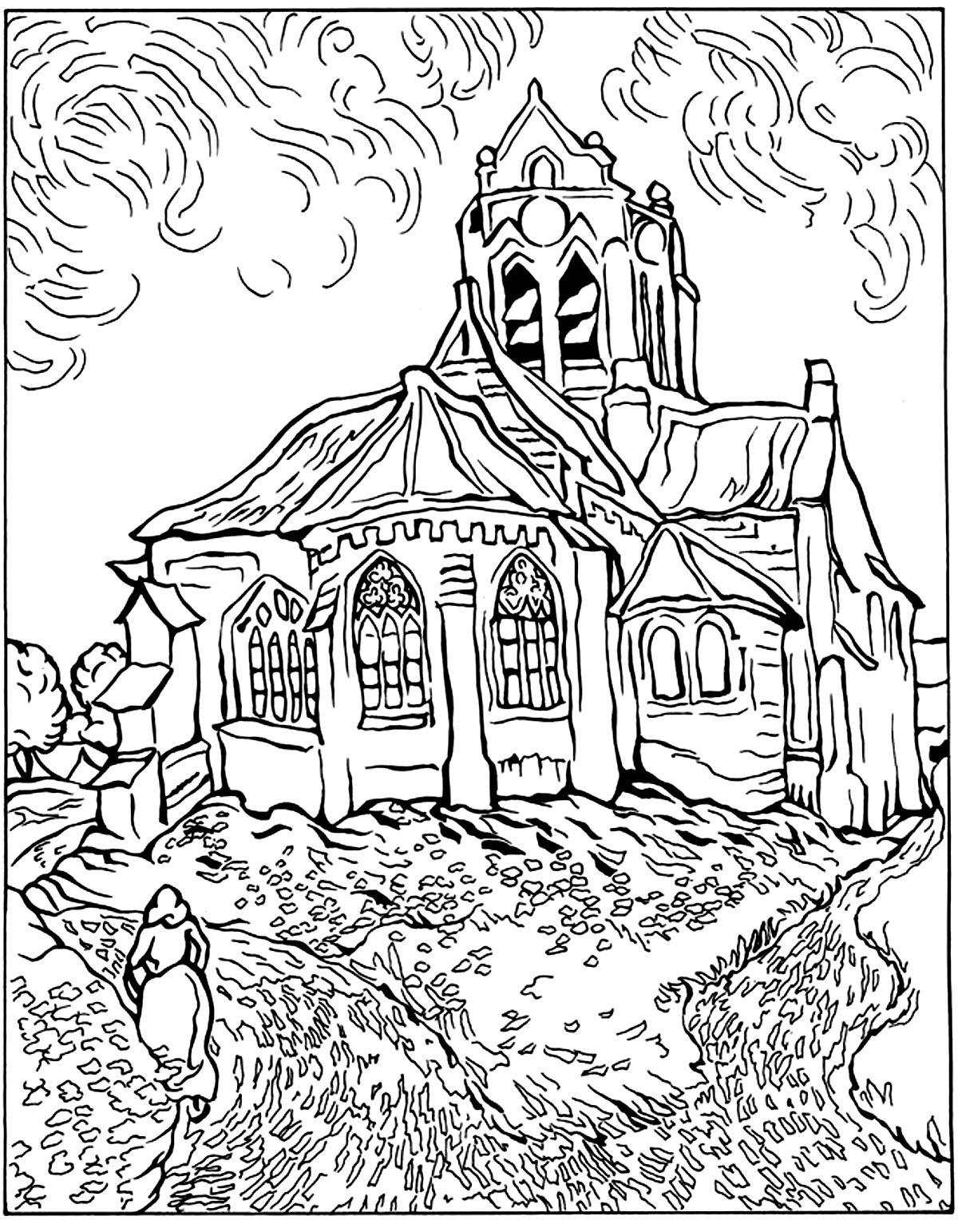 Van Gogh Auvers Church