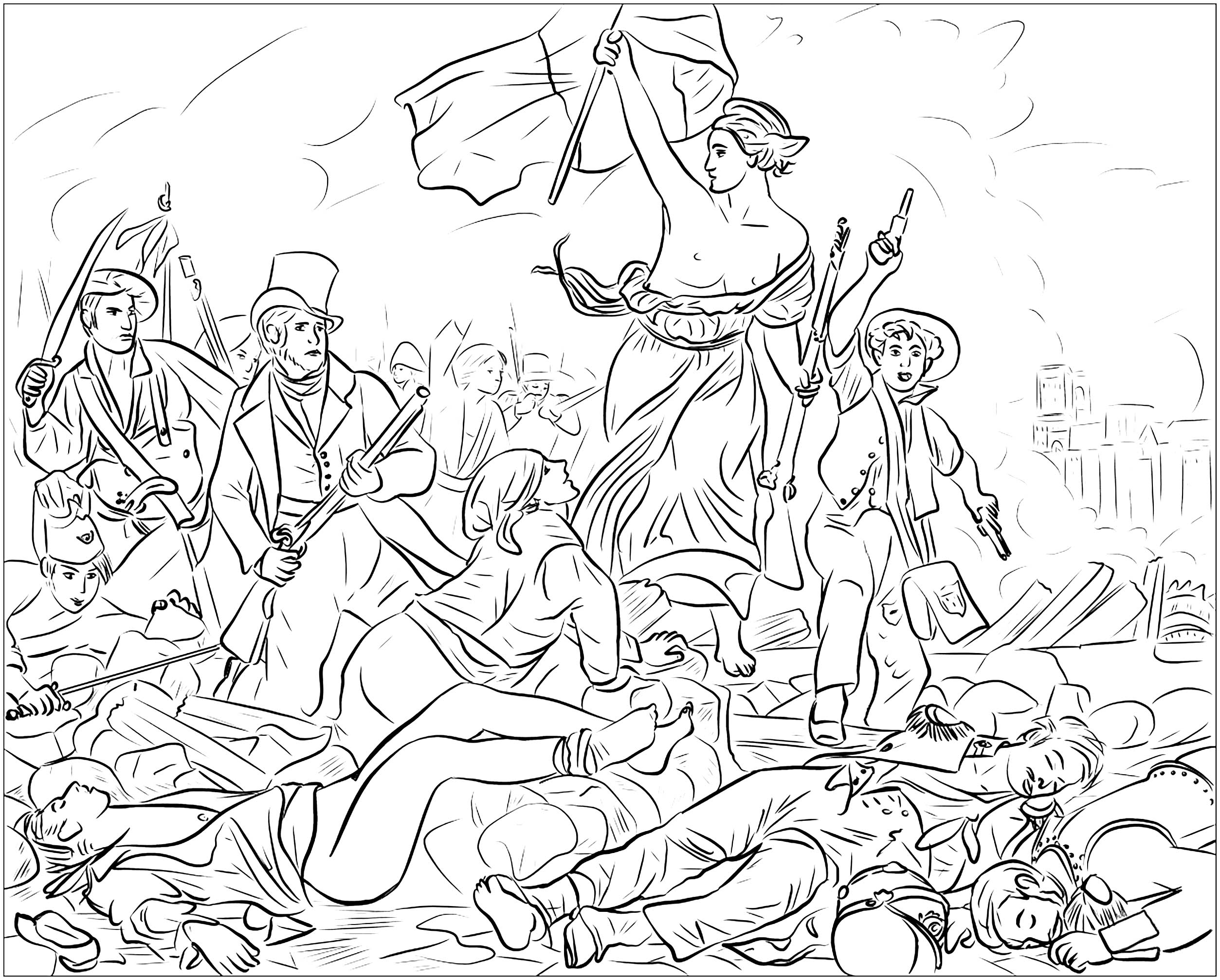 Eugene Delacroix Liberty Leading The People
