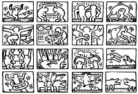Pop art keith haring | Masterpieces - Coloring pages for ...