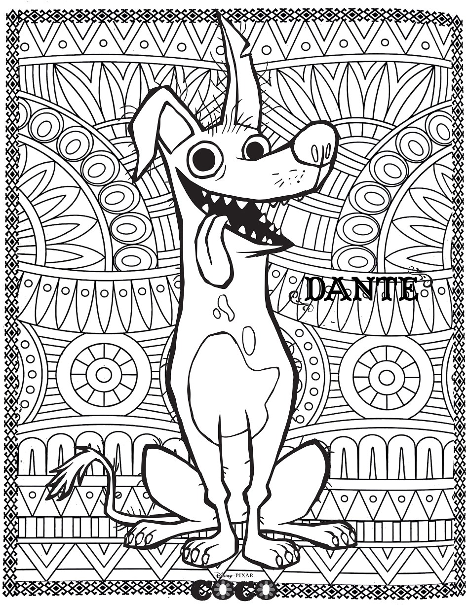 Disney Coco Dante Return To Childhood Coloring Pages For
