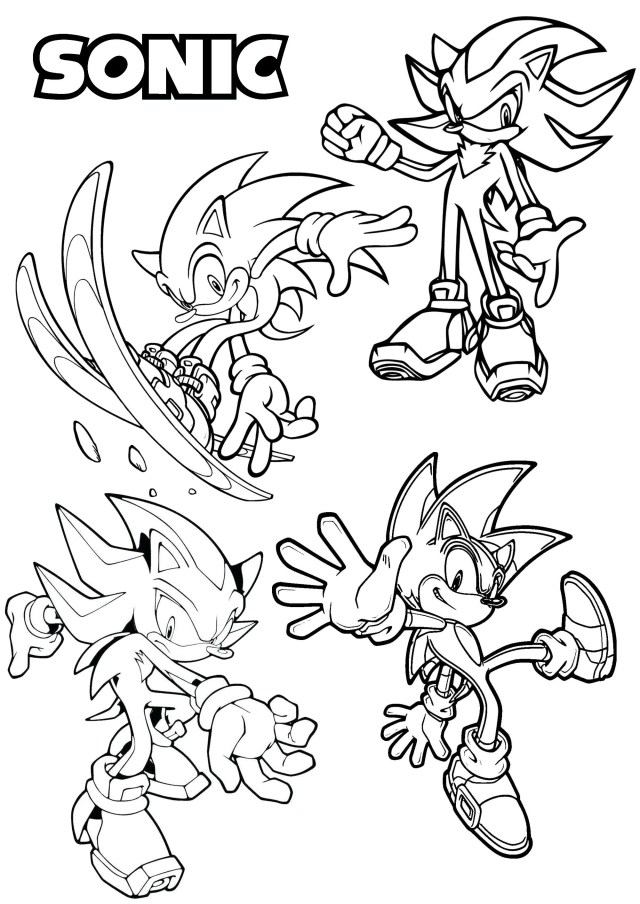 Sonic the Hedgehog - Return to childhood Adult Coloring Pages
