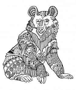 Bears Coloring Pages For Adults