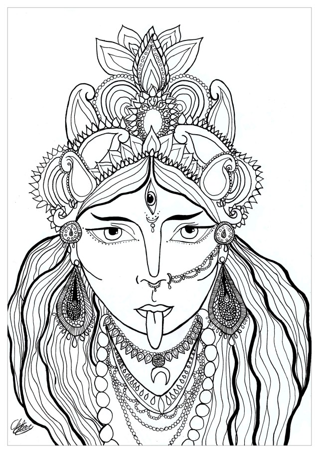Goddess - Coloring Pages for Adults