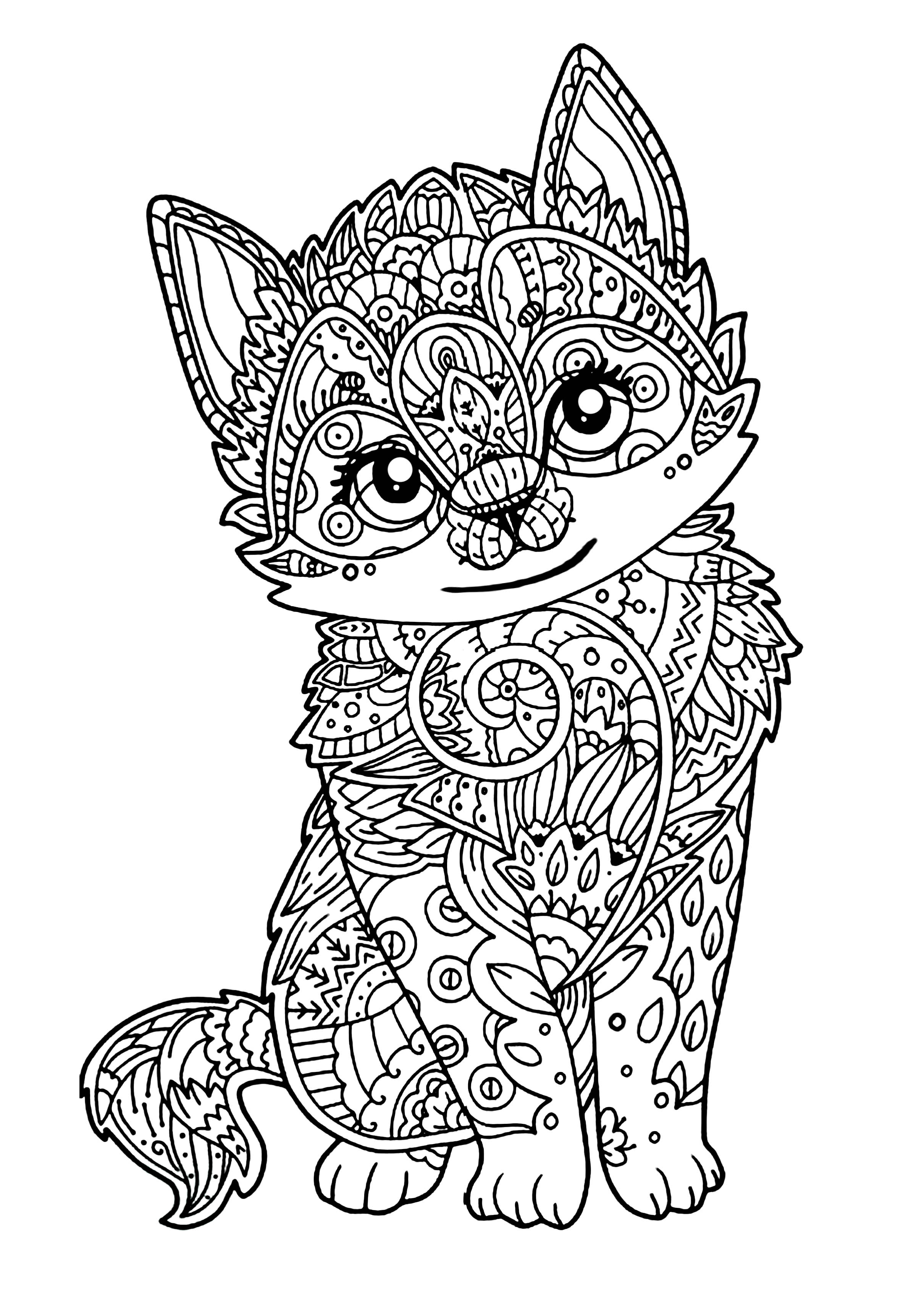 cats coloring pages for